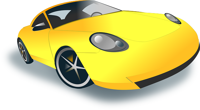 žlutý sporťák