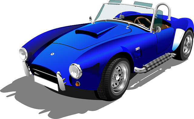 modré kabrio