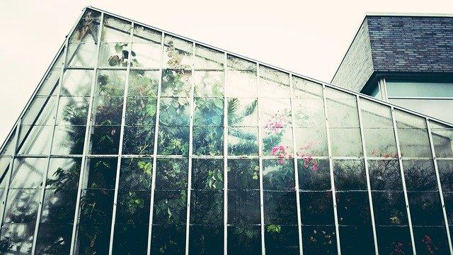 skleník v soukromém zahradnictví